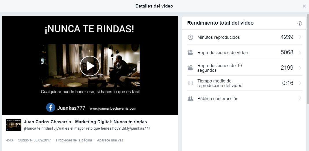 estrategia de vídeo marketing en facebook