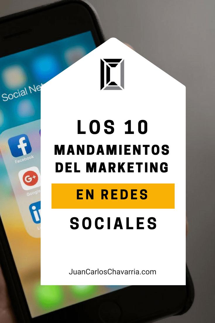 10 mandamientos de redes sociales