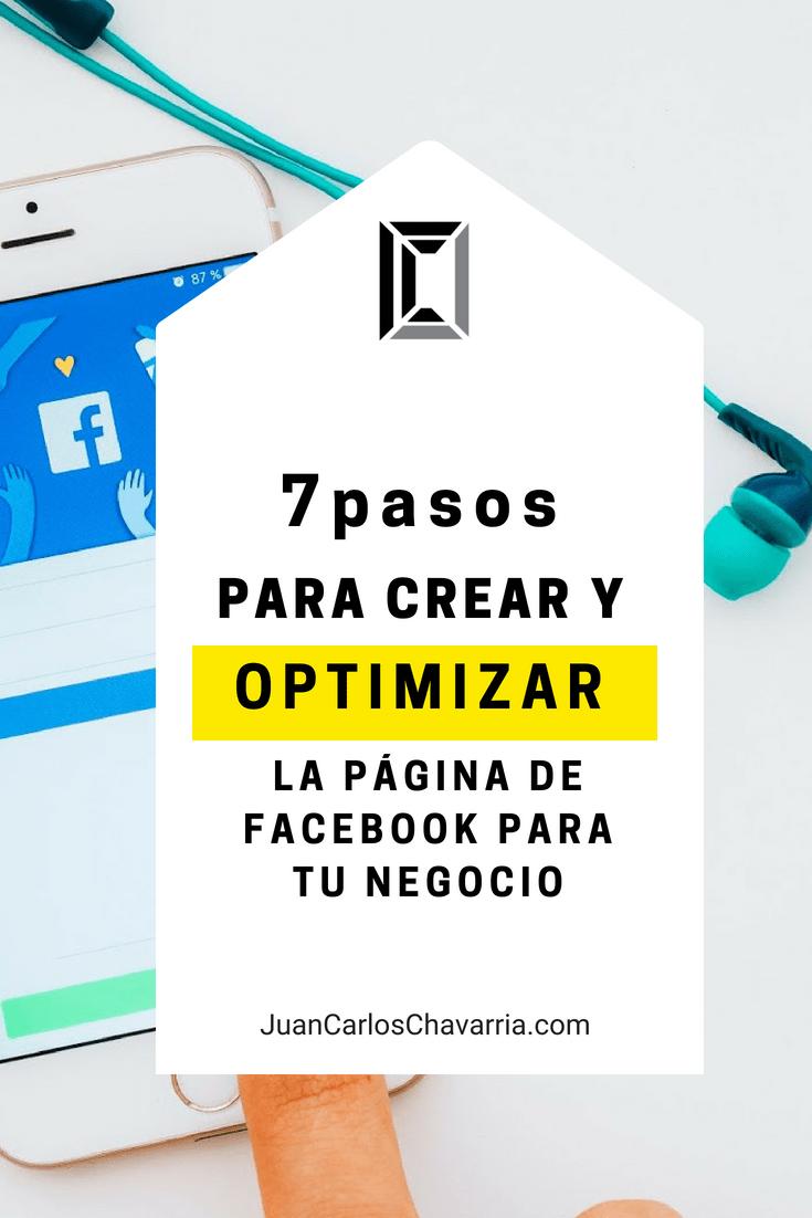 7 pasos para optimizar la página de facebook para tu negocio