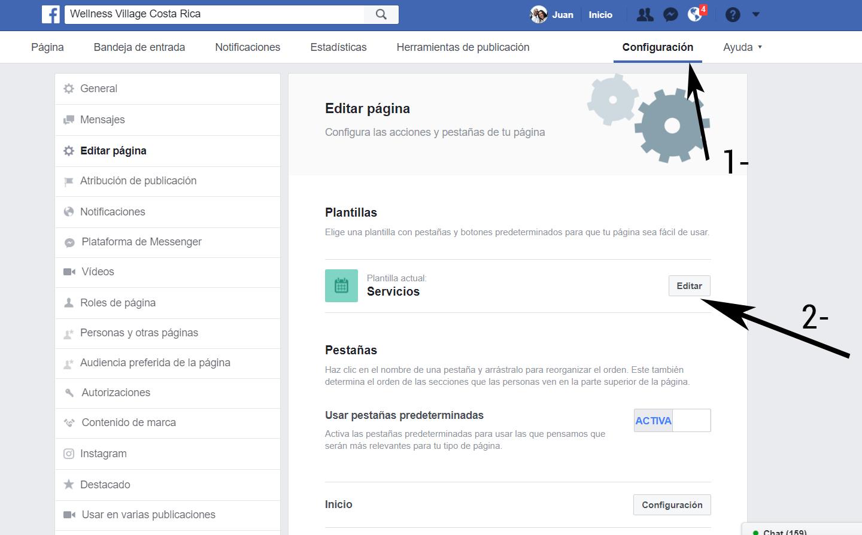 editar pensatañas visibles de facebook